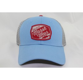Marsh Wear - Trout Patch Trucker Hat (Carolina Blue and Steel)